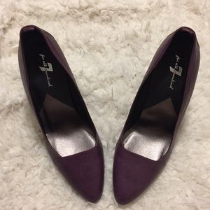 7 For All Mankind Purple Leather Pumps